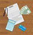 tax declaration vector image