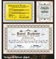 vintage certificates vector image