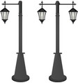 vintage street lamps vector image