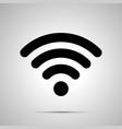 wifi signal silhouette simple black icon vector image