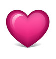 pink heart vector image vector image