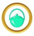 Bowler for food icon vector image