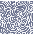 Swirly seamless pattern vector image vector image
