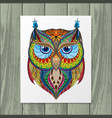 owl silhouette with paper vector image