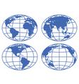 Globe maps vector image vector image
