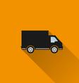 Car icon 10 long shadow vector image