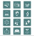 education objects icons  teal series vector image