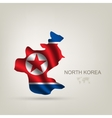 flag of North Korea as a country vector image vector image