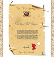 vintage old paper with nail vector image vector image