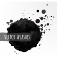 Inky splashes vector image
