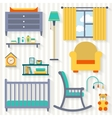 Baby room with furniture vector image