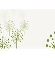 Decorative trees background with doodle tree vector image