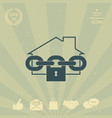 home lock icon vector image