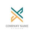 letter x company logo vector image