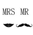 Mrs and mr symbols vector image