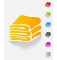 realistic design element towels vector image
