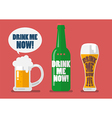 Set of beer drink me now vector image