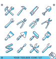 Your toolbox icons set lines vector image