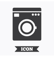 Washing machine icon Home appliances symbol vector image