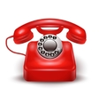 Realistic Red Telephone vector image