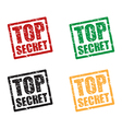 top secret set stamps vector image vector image