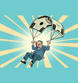 retired golden parachute financial compensation in vector image