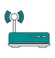 color silhouette image of wireless router vector image