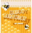 Happy Birthday to my sweet - card vector image vector image