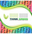 ecology green background vector image vector image
