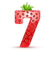 Tasty numbers vector image vector image
