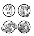 forest animals rings 1 vector image