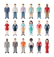 Flat style modern people in casual clothes icons vector image vector image