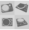 DJ turntables vector image