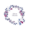 floral leaf wreath vector image