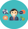 Online support concept Flat design Icon in vector image