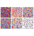 set of seamless triangles patterns vector image
