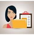 woman clipboard folder file vector image