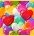 balloons hearts background seamless vector image vector image
