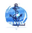 Travel vintage banner vector image