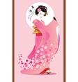 Sporing geisha vector image
