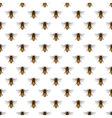 Bee pattern vector image