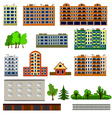City houses set vector image