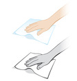 cleaning cloth vector image