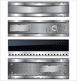 Metal banner set vector image vector image