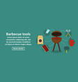 barbecue tools banner horizontal concept vector image