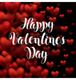 Black Card Valentines Day Calligraphy Lettering vector image