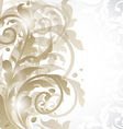 Christmas card or invitation with abstract floral vector image