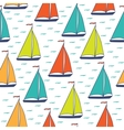 Colorful sailboats seamless pattern vector image