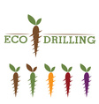 eco drilling vector image