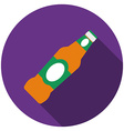 Flat design beer icon with long shadow isolated vector image